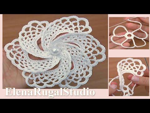 Crochet 6- Petal Flower Tutorial 105 Demo Version