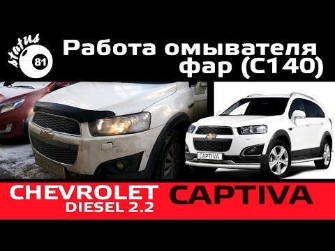 Работа омывателя фар Chevrolet Captiva