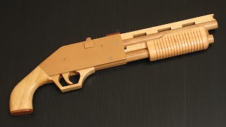 getlinkyoutube.com-[HD] Pump-action rubber band shotgun