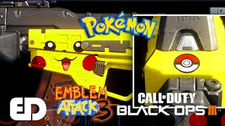 getlinkyoutube.com-Black Ops 3: PIKACHU Theme Camo Paint Job (Emblem Attack 3)