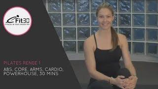 getlinkyoutube.com-Pilates Class 1, Renee's 30 Minute class, eFit30!