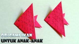 Cara membuat origami ikan yang mudah untuk TK dan Prasekolah
