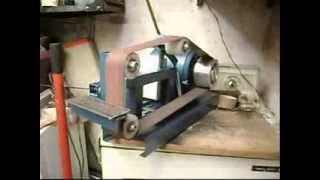 getlinkyoutube.com-LIJADORA DE BANDA DE BANCO     BENCH BELT GRINDER