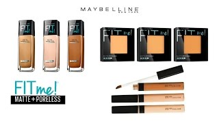 getlinkyoutube.com-REVIEW ♥ DEMO ♥ WEAR TEST | Maybelline Fit Me! Matte + Poreless Foundation, Powder & Concealer