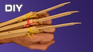 How to make Automatic Wolverine Claws | Wooden Sticks