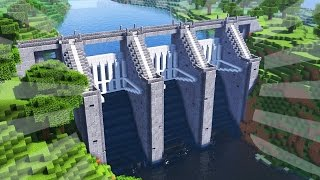 getlinkyoutube.com-How To Build a WATER DAM in Minecraft (CREATIVE BUILDING)