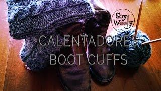 getlinkyoutube.com-Como tejer calentadores, boot cuffs, o polainas con dos agujas