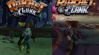 getlinkyoutube.com-Ratchet and Clank Planet Aridia Comparison [PS2 vs PS4]