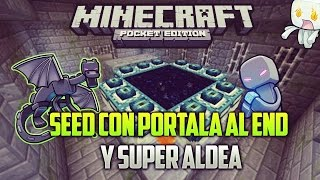 getlinkyoutube.com-¡Seed Con Portal Al End y Super Aldea Para Minecraft PE 0.17.0