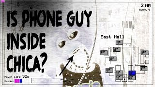 IS PHONE GUY INSIDE CHICA? (Five Nights At Freddy's Theory)