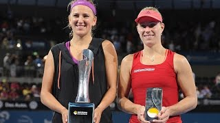 getlinkyoutube.com-2016 Brisbane International Final WTA Highlights | Victoria Azarenka vs Angelique Kerber