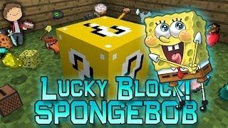 getlinkyoutube.com-Minecraft: SPONGEBOB LUCKY BLOCK! Modded Mini-Game w/Mitch & Friends!