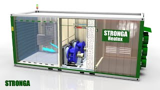Stronga Heatex Dual Fan (DF) series | Biomass drying heat exchanger | 3D animation