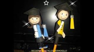 getlinkyoutube.com-DIY como hacer fofulapiz  graduacion fofuchos