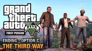 getlinkyoutube.com-GTA 5 - Final Mission / Ending C - The Third Way (Deathwish) [First Person Gold Guide - PS4]