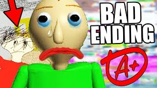 THE CREATOR'S HIDDEN MESSAGE! (New Ending) || Baldis Basics in Education and Learning BAD ENDING