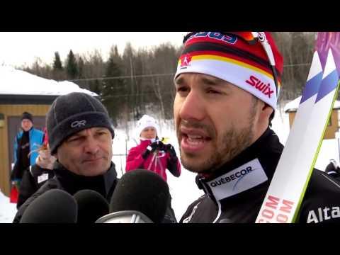 Rencontre avec Alex Harvey avant son départ pour le Ski Tour Canada