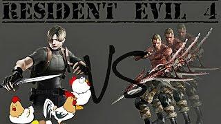 getlinkyoutube.com-Resident Evil 4 - Leon VS Three Krausers (Knife Only) HQ