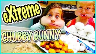 getlinkyoutube.com-🐰 EXTREME CHUBBY BUNNY CHALLENGE 😱 3 DIFFERENT FOODS