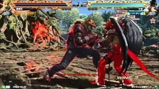 getlinkyoutube.com-2/27 鉄拳7 破壊王(king) vs knee(devil jin)【龍神戦】part2 エンパラ
