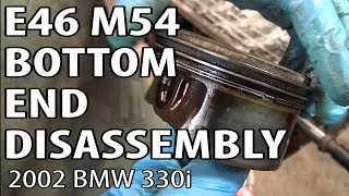 getlinkyoutube.com-BMW E46 Bottom End Disassembly #m54rebuild