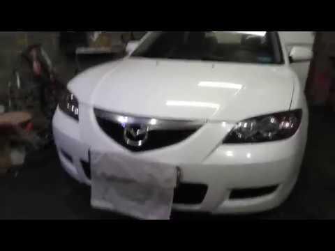 Mazda 3 Часть 2, замена штатных линз, чистка фар