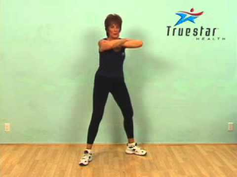 Body Squats - Legs Apart (arms crossed) Senior Female