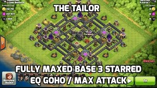 "getlinkyoutube.com-3 Starring Maxed ""Tailor"" Base with EQ GoHo Max Attack hogs, clash of clans clan war practice"