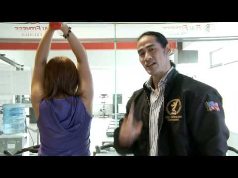 Binaraganet Video VI : Latihan Tricep Extention using Dumbell with Ade Rai