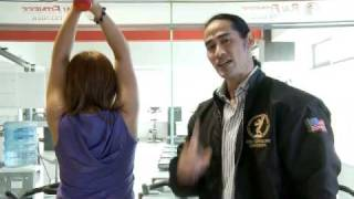 getlinkyoutube.com-Binaraganet Video VI : Latihan Tricep Extention using Dumbell with Ade Rai