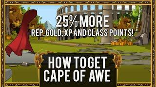 getlinkyoutube.com-=AQW= How To Get Cape of Awe (Gives 25% more gold, rep, XP and Class Points!) [Member Version] 2016