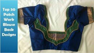 getlinkyoutube.com-Top 50 Patch Work Blouse Back Designs (DIY) | Ladies Corner