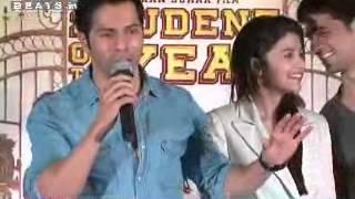 getlinkyoutube.com-Alia Bhatt, Varun Dhawan & Siddharth Malhotra Promotes Student of the Year Part 4
