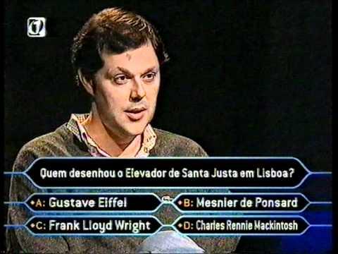 Quem Quer Ser Milionário: António Franco RTP1 2003 [pergunta 15 - parte 1]