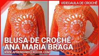 getlinkyoutube.com-Blusa de Crochê Ana Maria Braga - Aprendendo Croche