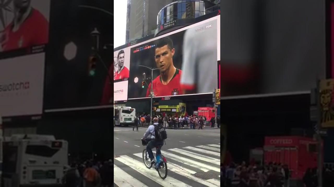 Ronaldo's Historic Freekick at Times Square