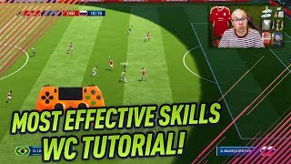 FIFA 18 WORLD CUP MOST EFFECTIVE SKILL MOVES TUTORIAL - BEST ATTACKING SKILLS TO SCORE MORE GOALS! width=