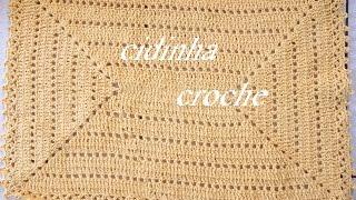 getlinkyoutube.com-Croche -Tapete Retangular- Passo A Passo - Parte1