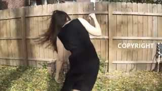 getlinkyoutube.com-20 to 30 MPH WIND Blowing Hair and Dress Sideways blows around walking woman flies in face Autumn