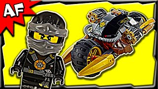 getlinkyoutube.com-Lego Ninjago Cole's BLASTER BIKE 70733 Ghost Army Stop Motion Build Review