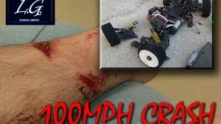 getlinkyoutube.com-RC Car Speed Run Insane Horrible Crash flips guy over at 100mph worst ever