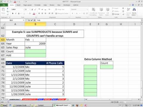 Excel Magic Trick 777: SUMPRODUCT Function -- Basics To Advanced (14 Examples)