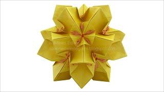 getlinkyoutube.com-Origami Dual-Coloured Kusudama (Aileen Edwin) Video Tutorial *HD*