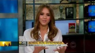 getlinkyoutube.com-[lovely-jessica.net] Jessica Alba: Actress, entrepreneur - CBS news (January 19, 2012)