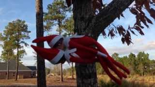 getlinkyoutube.com-CHRISTMAS DAY 11: MY ELF ON THE SHELF FLYING AND CRASHED INTO OUR TREE