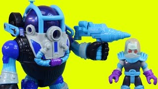getlinkyoutube.com-Imaginext Mr. Freeze & Robot Help Joker Bad Guys Escape From Jail Batman Robin Batbot Save The Day