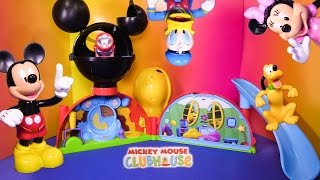 MICKEY MOUSE CLUBHOUSE Disney Mickey Mouse Clubhouse Playset Toys Video Unboxing