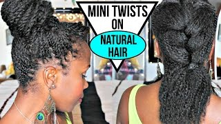 getlinkyoutube.com-How to Twist on Natural Hair- NO EXTENSIONS   EASY Styling and Product Tips   Natural Hair
