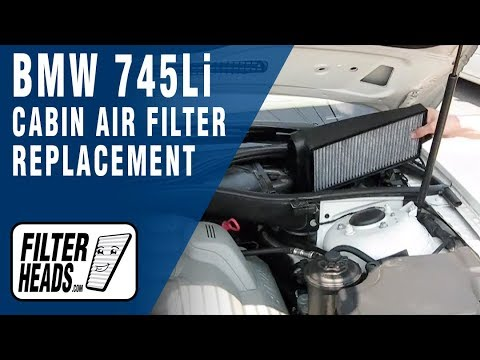 How to Replace Cabin Air Filter BMW 745Li