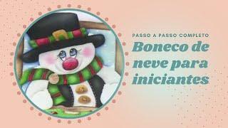 getlinkyoutube.com-Boneco de neve pintura em tecido por Thanynha Avila -Atelie na Tv